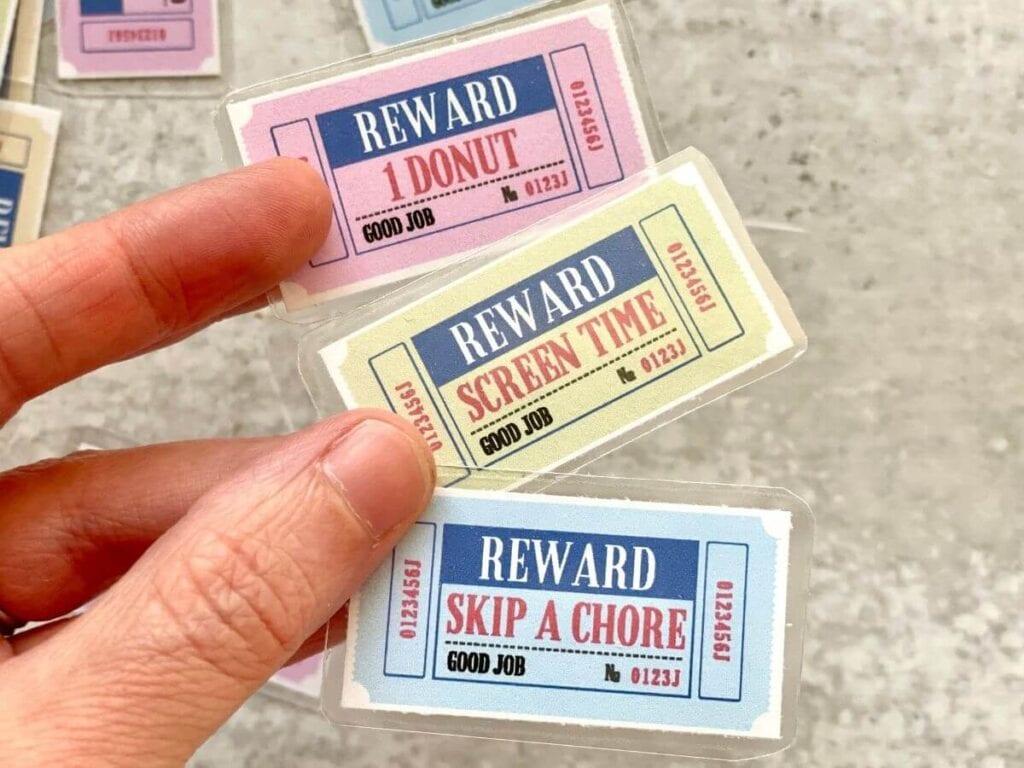 reward tickets for kids