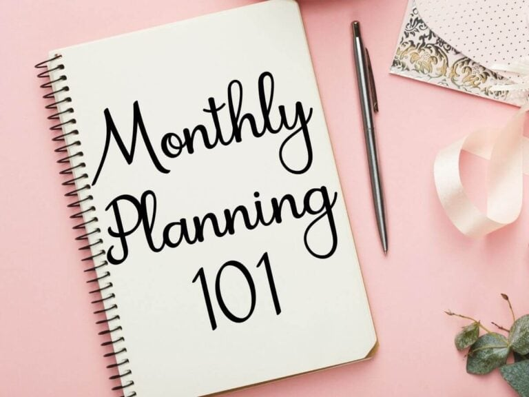 Monthly Planning in 4 Easy Steps – Plus FREE Monthly Plan Templates