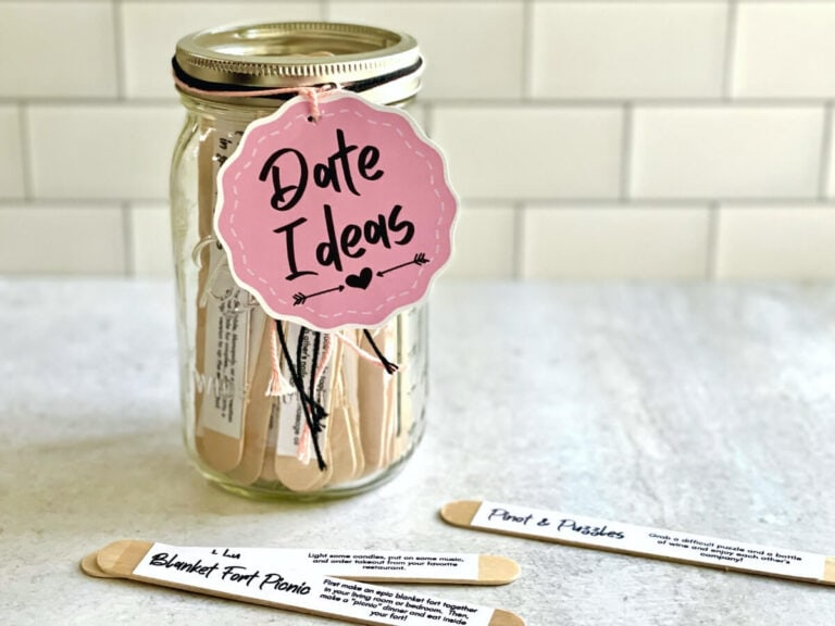 Make your Own Date Jar with These Ideas – Free Printable List!