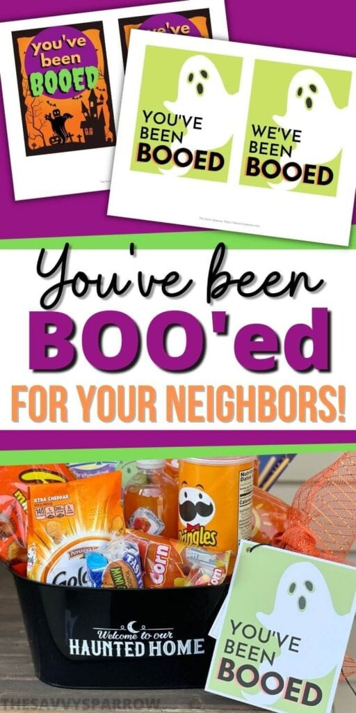 You've been booed for your neighbors Pinterest graphic