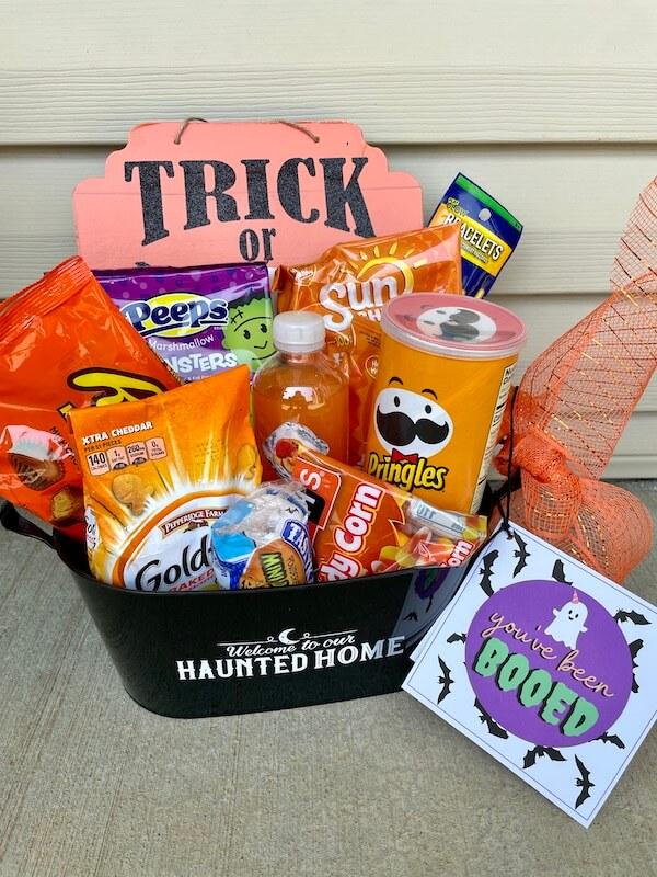 You've been booed Halloween neighbor gift basket