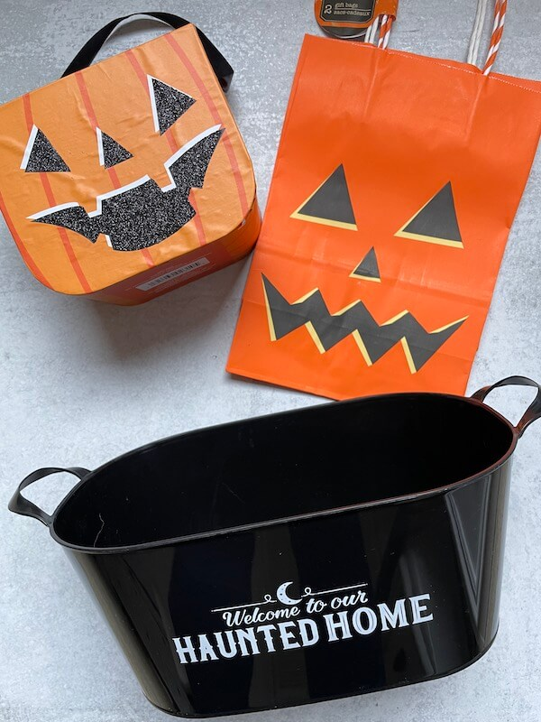 Halloween bags and baskets
