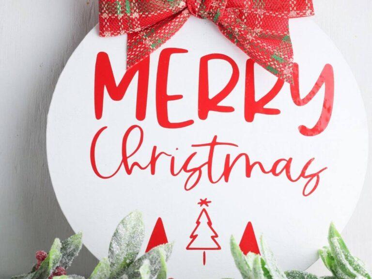 DIY Christmas Sign – Easy Dollar Tree Christmas Crafts!