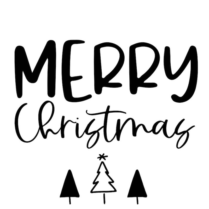 Merry Christmas template for DIY sign