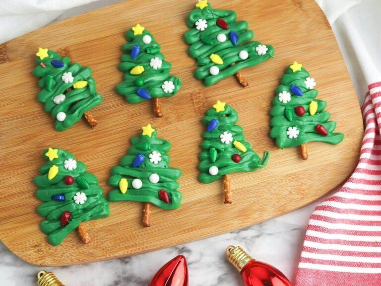 Chocolate Pretzel Christmas Trees – Fun Treats To Make With Your Kids!