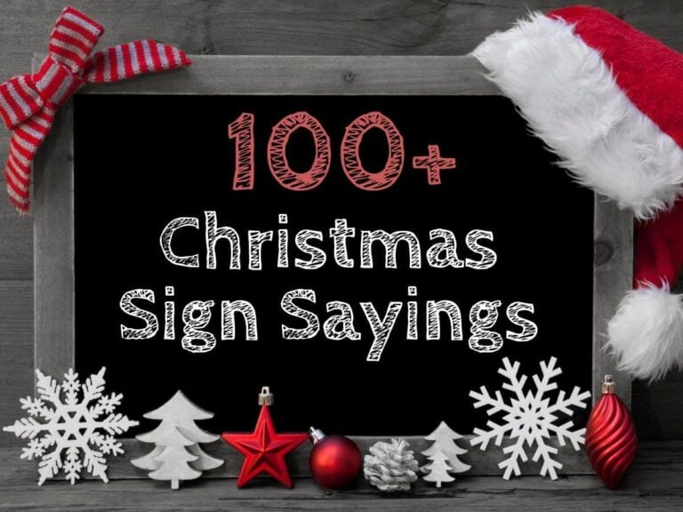 100+ Christmas Sayings for Signs – Great for DIY Signs or Letter Boards!
