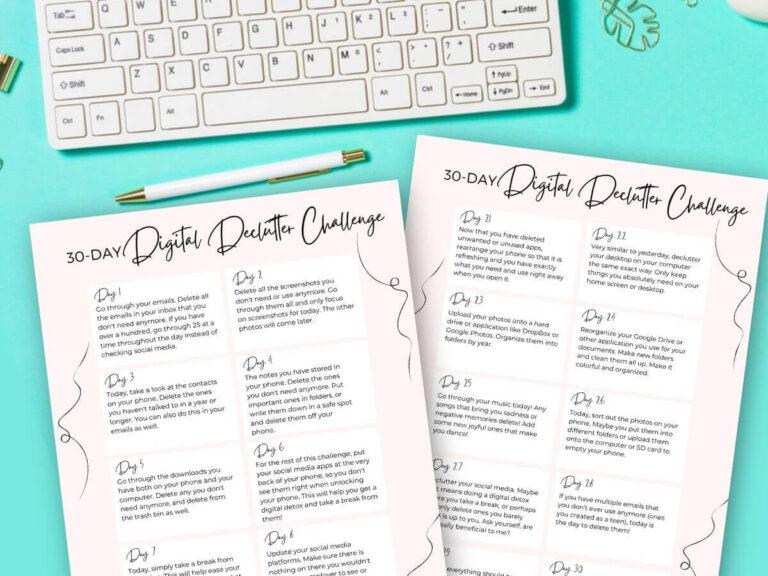 Digital Decluttering Challenge – 30 Days to Organize Your Digital Life!
